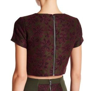 Alice + Olivia crop top